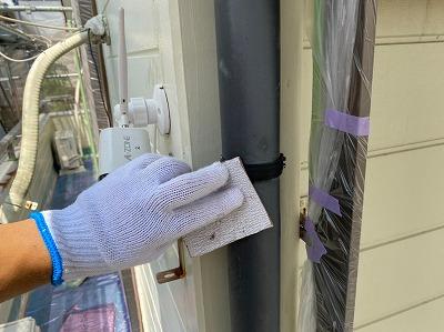 雨樋塗装手順
