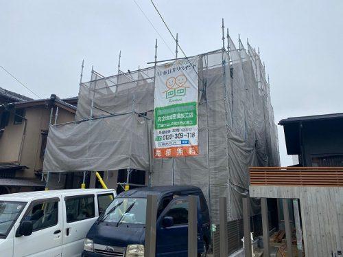 春日井市 外壁塗装 架設足場