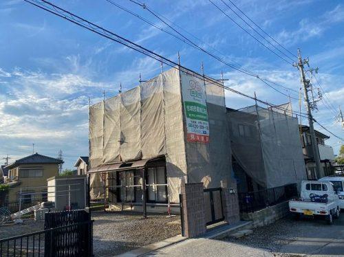 春日井市 外壁塗装 足場